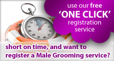 Use our free one click Male Grooming directory registration service