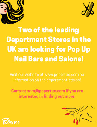 pop up Nail Bar in Debenhams