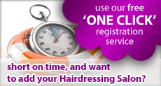 Use our free one click Hairdresser directory registration service