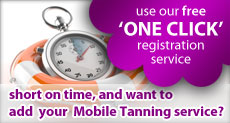 Use our free one click Mobile Spray Tanning directory registration service