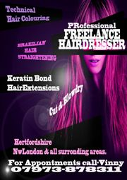 freelance hairdressing Hertfordshire & NW London - 2