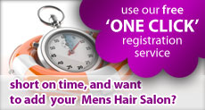 Use our free one click Mens Hairdressing salon directory registration service
